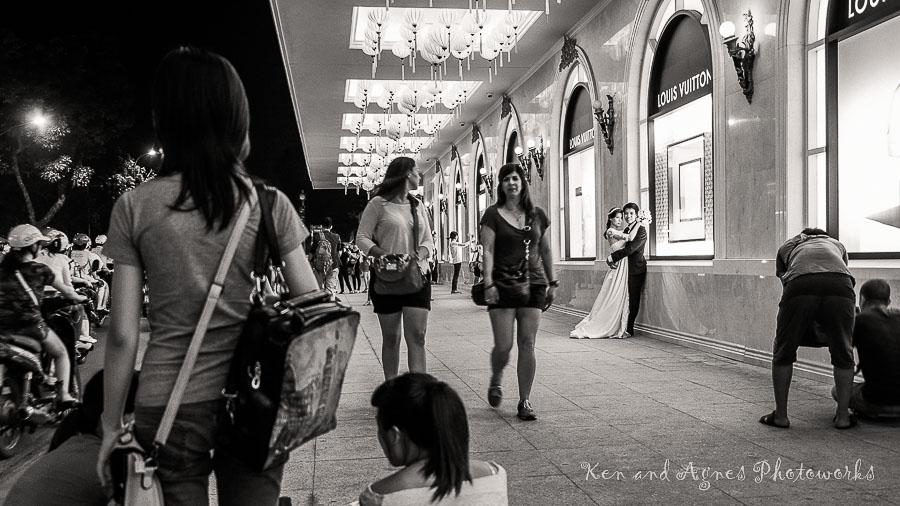 Wedding Photo Shoot at Trang Tien Plaza 2
