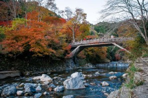 Sagakiyotaki Bridge View Of Kiyotakigawa River