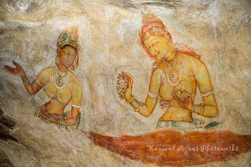 A Sigiri Apsara Confiding In Her Consort