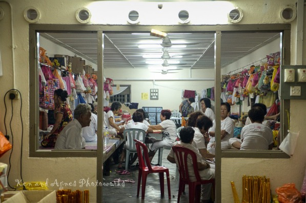 Female devotees from afar participating fully in the prayers and ceremonies over the nine day festival to enrich themselves spiritually can apply to stay at the temple's dormitory facilities for a small fee. Its basic but sufficient for the purpose. This is made possible by the fact that the temple is famous among the Chinese community, receives good support and funding from devotees, thus enabling it to offer such services and maintaining its facilities in good order.