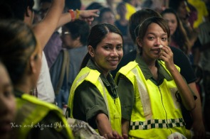 Some lovely RELA girls on duty during the festival. Crowd control and security is an important aspect of any large public event, the Nine Emperor Gods festival is no different. Event organizers engage RELA (a paramilitary civil volunteer corps formed by the Malaysian government) personnel to be in attendance to maintain order and assist with traffic management, etc.
