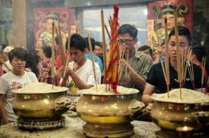When their turn comes, devotees pray in earnest and spiritual devotion …